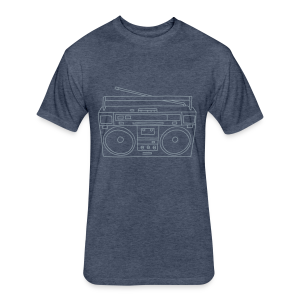 Boombox - Fitted Cotton/Poly T-Shirt by Next Level