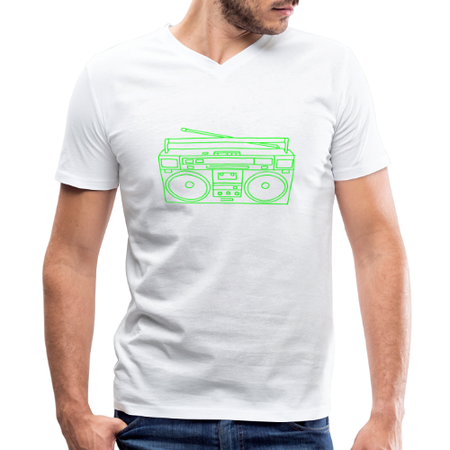 Boombox - Men's V-Neck T-Shirt by Canvas