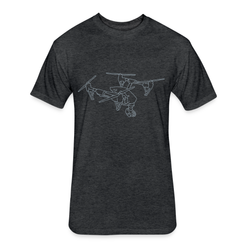 Drone (UAS) - Fitted Cotton/Poly T-Shirt by Next Level