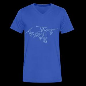 Drone (UAS) - Men's V-Neck T-Shirt by Canvas