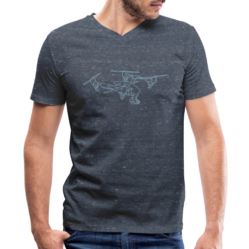 Drone (UAS) - Men's V-Neck T-Shirt by Canvas