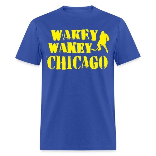 Wakey Wakey Chicago Men's 100% Cotton T-Shirt - Men's T-Shirt