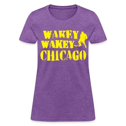 Wakey Wakey Chicago Women's 100% Cotton T-Shirt - Women's T-Shirt