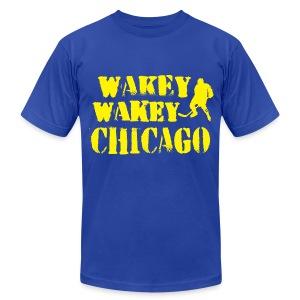 Wakey Wakey Chicago Men's American Apparel T-Shirt - Men's Fine Jersey T-Shirt