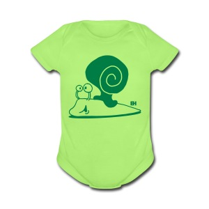 Escargot Cache-couches bébés - Short Sleeve Baby Bodysuit