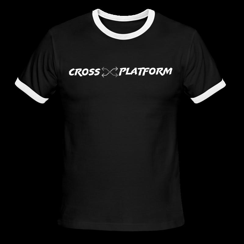 Podcast Logo2 White - Men's Ringer T-Shirt