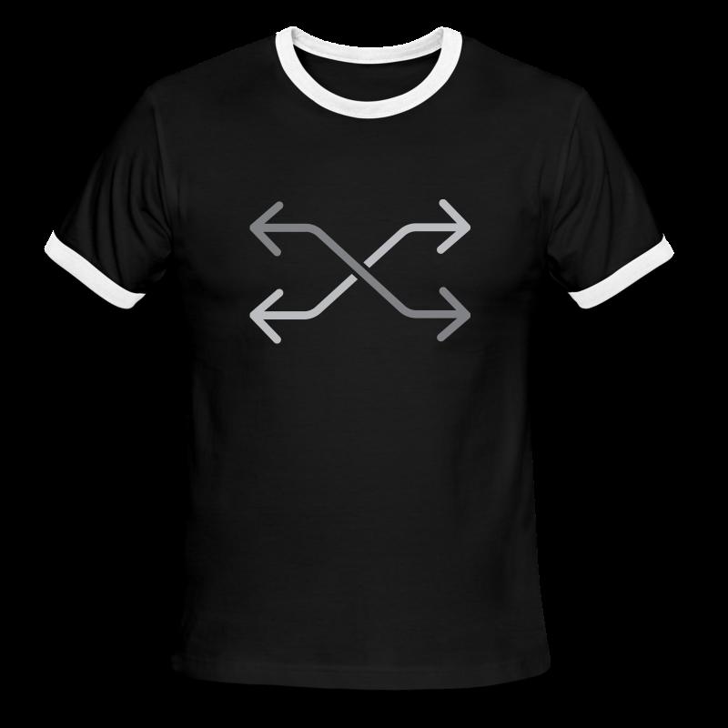 Podcast Logo3 White - Men's Ringer T-Shirt