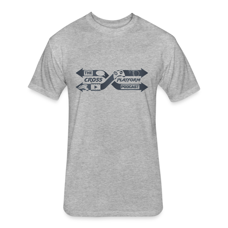 Podcast Logo Dark - Fitted Cotton/Poly T-Shirt by Next Level