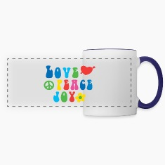 Love Peace Joy Panoramic Mug
