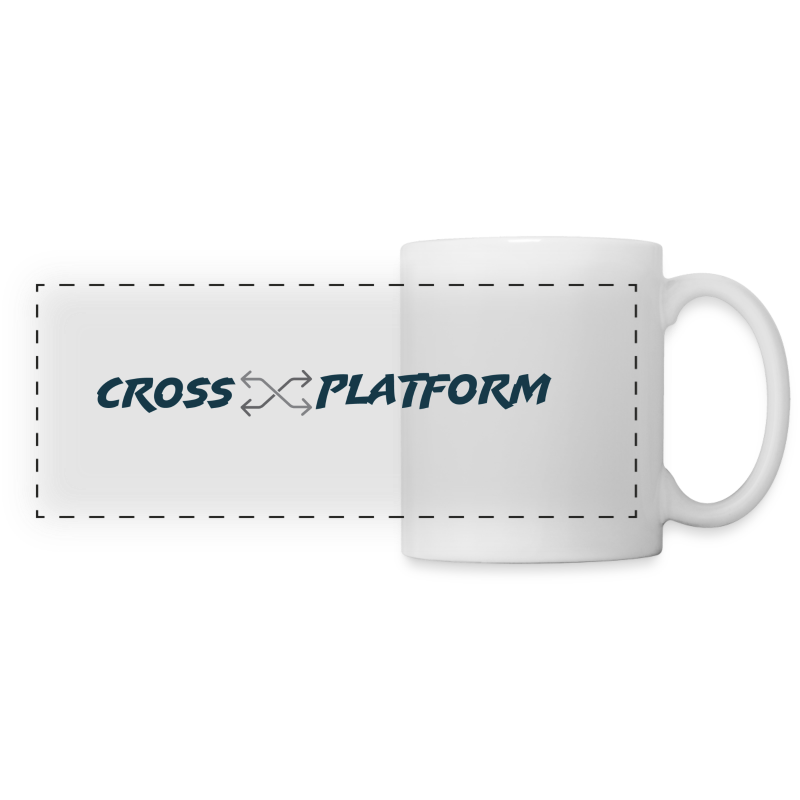 Podcast Logo2 Dark - Panoramic Mug