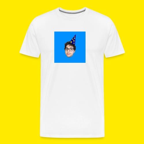 YUSBOY BOX LOGO BLUE - Men's Premium T-Shirt