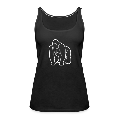 Mighty Tank - White on Black (Womens) - Women's Premium Tank Top