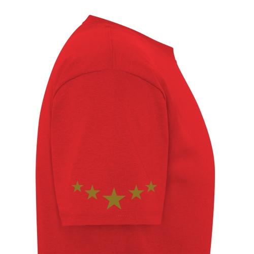 5 Star Elite T-Shirt - RED/GOLD - Men's T-Shirt