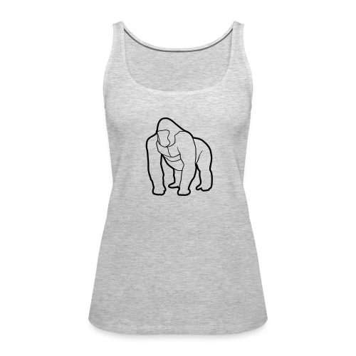 Mighty Tank - Black on Gray (Womens) - Women's Premium Tank Top
