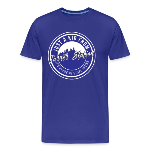 TS Ground Blue N White - Men's Premium T-Shirt