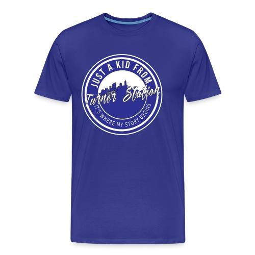 TS Ground Blue N White - Men's Premium T-Shirt