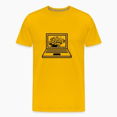 computer laptop notebook pc write thinking screen  T-Shirts
