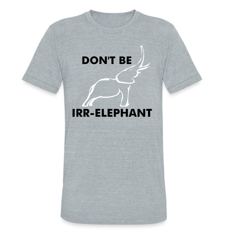 STAY r-ELEPHANT - Unisex Tri-Blend T-Shirt by American Apparel