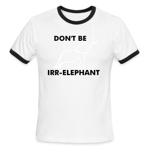 STAY r-ELEPHANT - Men's Ringer T-Shirt