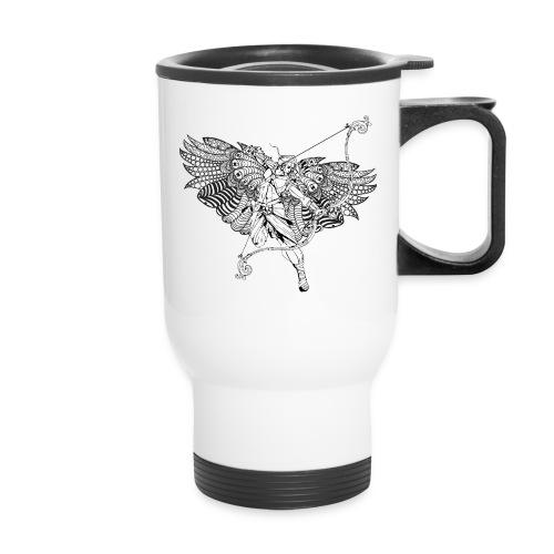 Angel Drawing back his bow - Travel Mug