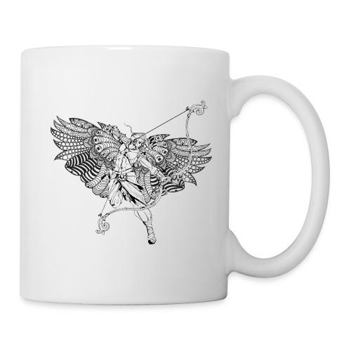 An angel draws back his huge bow - Coffee/Tea Mug