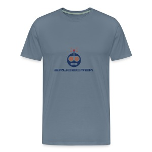 2RudeCrew Men's Blue T-Shirt - Men's Premium T-Shirt