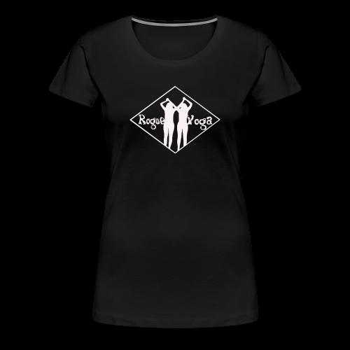 Women's Premium T-Shirt with White Diamond Logo - Women's Premium T-Shirt