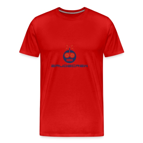 2RudeCrew Men's Red T-Shirt - Men's Premium T-Shirt