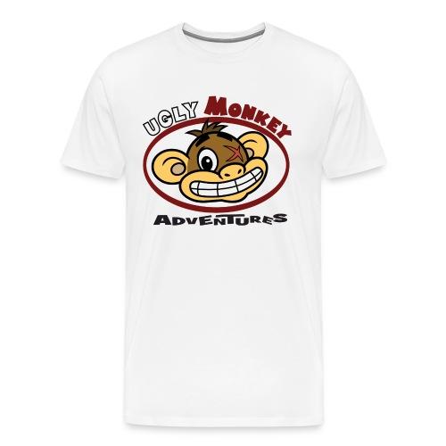 Ugly Monkey Adventures - Mens T-Shirt with Head Logo - Multiple Colors  - Men's Premium T-Shirt