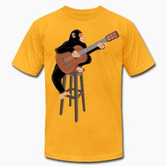 Monkey with acoustic guitar
