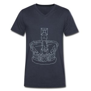 Crown - Men's V-Neck T-Shirt by Canvas
