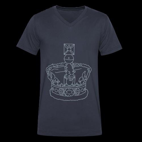 Crown - Men's V-Neck T-Shirt by Canvas