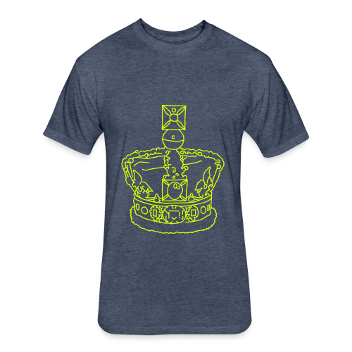 Crown - Fitted Cotton/Poly T-Shirt by Next Level