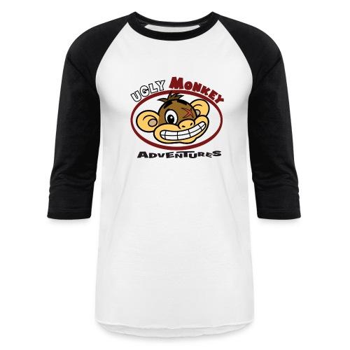Ugly Monkey Adventures - Man's Baseball T-Shirt with Head Logo - Multiple Colors  - Baseball T-Shirt
