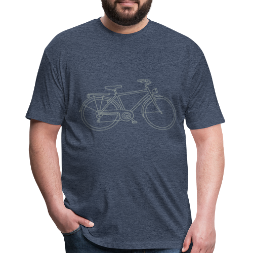 Bicycle - Fitted Cotton/Poly T-Shirt by Next Level