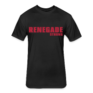 T-Shirts ~ Fitted Cotton/Poly T-Shirt by Next Level ~ Black Renegade Strong T-Shirt