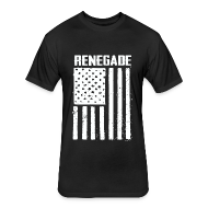 T-Shirts ~ Fitted Cotton/Poly T-Shirt by Next Level ~ Black Renegade Flag T-Shirt