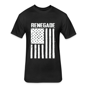 Black Renegade Flag T-Shirt - Fitted Cotton/Poly T-Shirt by Next Level