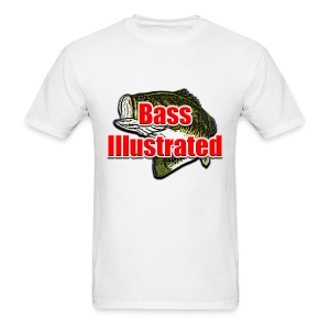 Men's T-shirt in White - Bass Illustrated Large Logo - Men's T-Shirt