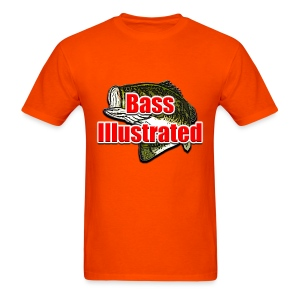 Men's T-shirt in Orange - Bass Illustrated Large Logo - Men's T-Shirt