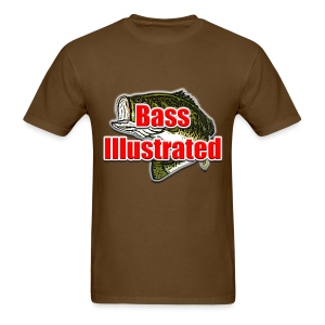 Men's T-shirt in Brown - Bass Illustrated Large Logo - Men's T-Shirt
