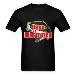 Men's T-shirt in Black - Bass Illustrated Large Logo - Men's T-Shirt