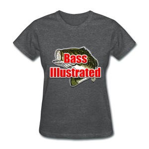 Women's T-shirt in Deep Heather - Bass Illustrated Large Logo - Women's T-Shirt