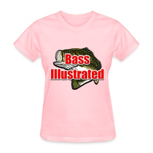 Women's T-shirt in Pink - Bass Illustrated Large Logo - Women's T-Shirt