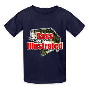 Kid's T-shirt in Black - Bass Illustrated Large Logo - Kids' T-Shirt