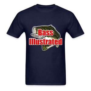 Men's T-shirt in Navy - Bass Illustrated Large Logo - Men's T-Shirt