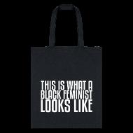 Bags & backpacks ~ Tote Bag ~ Black Feminist Tote Bag