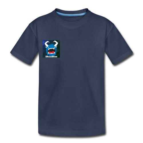 iBuzzBlue Kids T-shirt Logo on front and Youtube sign on back - Kids' Premium T-Shirt
