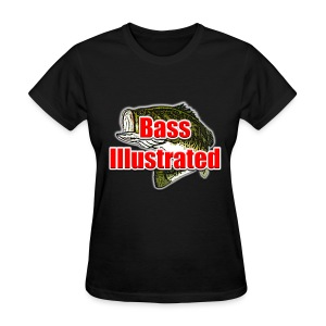 Women's T-shirt in Black - Bass Illustrated Large Logo - Women's T-Shirt