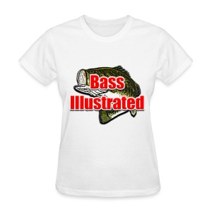 Women's T-shirt in White - Bass Illustrated Large Logo - Women's T-Shirt